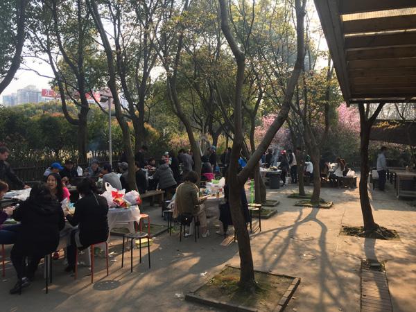 上海バーベキュー宅配のお花見バーベキュー